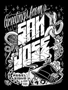 San Jose print  #Rebel8    British Indie Clothing - AcquireGarms.com