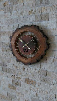 Wood clock İzmir/ Turkey