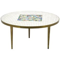 Italian Murano Glass Tile-Top Coffee Table | From a unique collection of antique and modern coffee and cocktail tables at https://www.1stdibs.com/furniture/tables/coffee-tables-cocktail-tables/