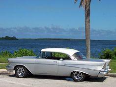 1957 Chevy Belair 2 Door Hardtop Inca Silver/Imperial Ivory 1957 283 engine