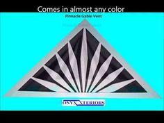decorative gable vents - YouTube Gable Decorations, Gable Vents, Greek, Garage, Cottage, Exterior, Youtube, House, Color