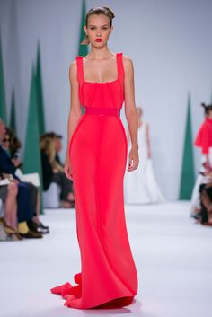 A look from the Carolina Herrera Spring 2015 RTW collection. Perfect dress.