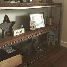 Custome built shelves #reclaimed #barnwood and #steel built and fabricated by me  #woodworking #woodwork #design #pnw #madeinusa #industrial #welding #dowoodworking #redeemedcreationsco de redeemed_creations_co