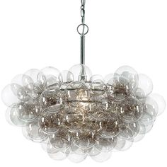 Regina Andrew Lighting Clear Bubble Chandelier 55-10646