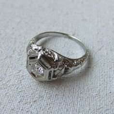 Art Deco Wedding RingI bought my wife a ring just like this when we first started dating.