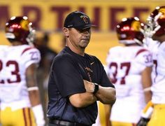 USC coach Steve Sarkisian may not have been sober during Arizona State game