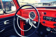 Elektrische Volkswagen Kever - binnenkant