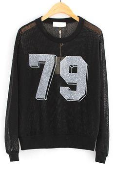 Semi-Sheer Number 79 Sweatshirt