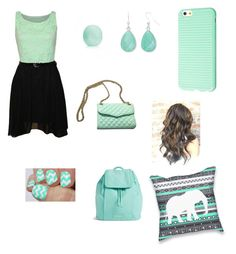"""""""Nice mint floral outfit"""" by vianey456 ❤ liked on Polyvore featuring interior, interiors, interior design, home, home decor, interior decorating, WearAll, Rebecca Minkoff, Liz Claiborne and Vera Bradley"""