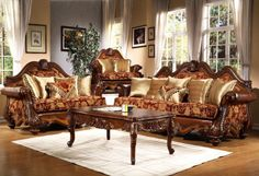 burgundy and gold chairs - Google Search