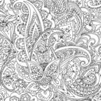 "Seamless pattern of ""Paisley"" based on traditional oriental patterns. Hand drawing. Vintage style. Linear drawing. Black"