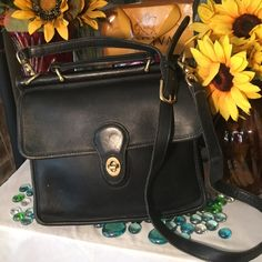 1-DAY SALECoach Bag SALEAuthentic Vintage Coach Bag- Sz 9x3x11- Can be worn as a Crossbody bag- (1) interior pocket inside- Suede lining no stains it damage- 26' adjustable strap- jet black-Good condition- no damage- Very nice bag! Coach Bags Shoulder Bags