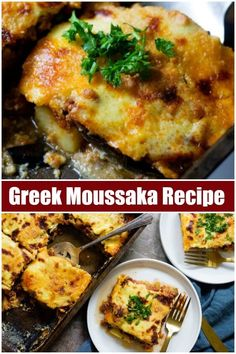 Greek moussaka is a classic comfort food of the Mediterranean region. This step . - Greek moussaka is a classic comfort food of the Mediterranean region. This step by step moussaka re -