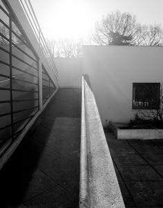 Villa Savoye designed by Le Corbusier in Poissy near Paris, France