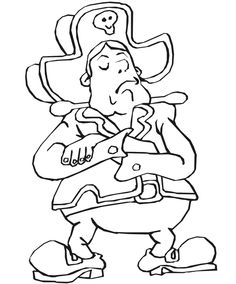 Dibujos para Colorear. Dibujos para Pintar. Dibujos para imprimir y colorear online. Piratas 5