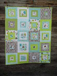 Blueberry Patch: baby quilt