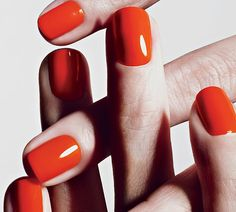 Inspired by an orange peel -- Chanel.  I'm wearing the same shade by OPI called Hot and Spicy -- shellac manicure.