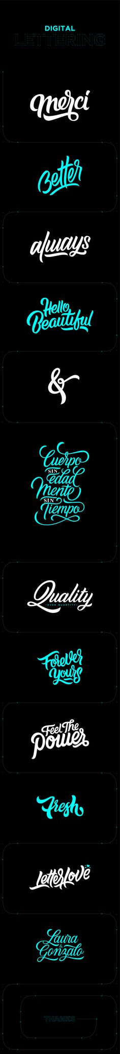 Digital Lettering on Behance