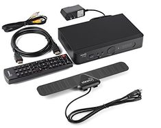 NEW ViewTV AT-300 ATSC Digital TV Converter Box Bundle with ViewTV 25 Mile Flat HD Digital Indoor TV Antenna and HDMI Cable w/ Recording PVR Function / HDMI Out / Coaxial Out / Composite Out / USB Input