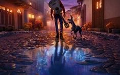 and walking to the Land of the Dead :] in hd Disney Desktop Wallpaper, Wallpaper S, Wallpaper Backgrounds, Princesa Disney, Great Movies, Film, Fun Projects, Disney Pixar, Concept Art