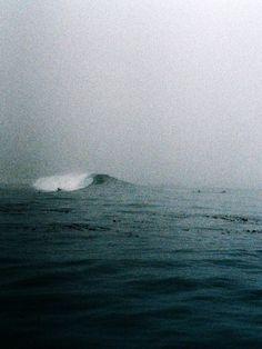 Into the ocean blue.