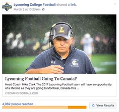 Lycoming Football: Lycoming College Football article viewed by over 4...
