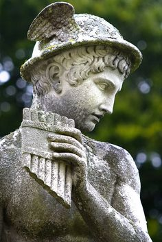 Statue of Hermes, Chatsworth House Gardens, Derbyshire by Theresa Elvin, via Flickr
