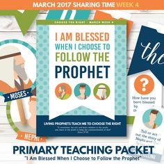 "SAVE BIG by purchasing this kit in our March Sharing Time Combo Package!  This LDS Sharing Time teaching package is designed specifically for March – Week 4. We have provided wonderful teaching tools and suggestions to help your LDS Primary understand how, ""I am Blessed When I Choose to Follow the Prophet.""  Included in this package is over 40 pages of sharing time teaching suggestions and helps! You will love the custom illustrations, meaningful learning activities, and more!  This is a…"
