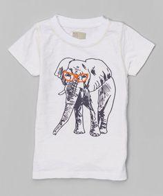 Look what I found on Vanilla Elephant Tee - Infant, Toddler & Boys by NANO Toddler Boys, Infant Toddler, Great Deals, Elephant, Tees, Casual, Vanilla, Cotton, Mens Tops