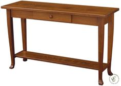 Expertly crafted in the Amish tradition in your choice of hardwood, our Wears Valley Console Table will add a touch of charm and tradition to your home.