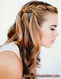 Katlı Saç Örgü Modeli