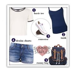"""Summer Staples"" by alynncameron ❤ liked on Polyvore"