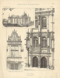 """Architecture et sculpture en France"""" Chateau d'Azay le Rideau"""