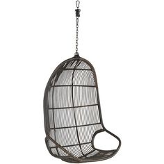 Pier 1 Imports Willow Swingasan Mocha Hanging Chair ($240) ❤ liked on Polyvore featuring home, outdoors, patio furniture, hammocks & swings, brown, outdoor hanging chair and pier 1 imports