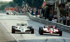 Monaco 1981 Alan Jones (Williams) -  Gilles Villeneuve  (Ferrari)