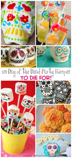 25 Day of the Dead recipes to die for! These are ideal for a Dia de los Muertos party or celebrations. So much fun!