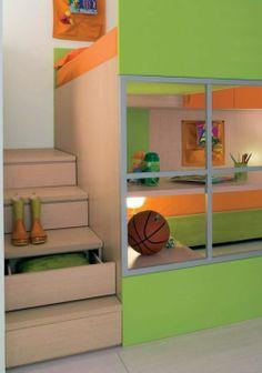 Muebles  modernos en habitaciones de niños.