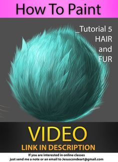 How To Paint HAIR and FUR by Jesus Conde by JesusAConde.devia… on jesusaconde. Digital Painting Tutorials, Digital Art Tutorial, Art Tutorials, Drawing Tutorials, Painting Fur, Painting Tips, Painting & Drawing, Tutorial Draw, Photoshop Tutorial