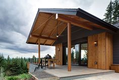 Called The Pumpkin Ridge Passive House, the building relies on passivhaus principles to conserve and efficiently use energy.