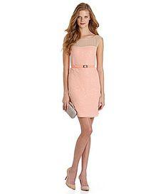 For upcoming summer weddings? Vince Camuto Mesh Sequin Dress | Dillards.com