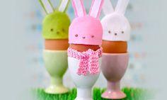 Leuke eierhoedjes als konijnen! Ideaal voor Pasen