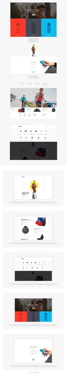 Logitech website concept design.
