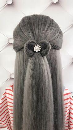 to make big Braids Hairstyle Tutorial 1090 Cute Simple Hairstyles, Summer Hairstyles, Easy Hairstyles, Girl Hairstyles, Kids Hairstyle, Hairstyles Videos, Hairstyle Tutorial, Curly Hair Styles, Natural Hair Styles