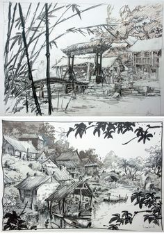 Mulan: 70 Original Concept Art Collection – Daily Art, Movie Art – Art Drawing Tips Landscape Sketch, Daily Art, Art, Digital Painting, Movie Art, Animation Background, Environmental Art, Scenery, Landscape Drawings