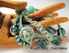 Micro Macrame Wrap Bracelet by Sherri Stokey of Knot Just Macrame