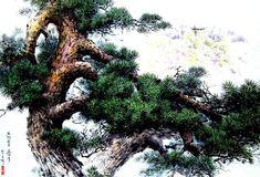 (North Korea) A Pine by Kim Seung-hi (1939-  )