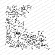 Impression Obsession - Cover-A-Card - Cling Mount Rubber Stamp - Poinsettia Sketch Christmas Crafts To Make, Festive Crafts, Christmas Ornaments, Impression Obsession Cards, Christmas Window Display, Poinsettia Flower, Family Tattoos, Cricut Tutorials, Purple Flowers
