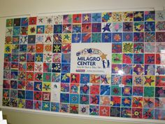Art Tile Wall Community Service Project, The Milagro Center #fundraising #nonprofit #communityoutreach