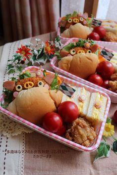 Pig croquette sandwich bento
