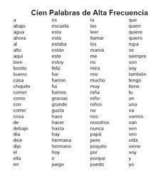 I Teach Dual Language: Palabras de alta frecuencia/High Frequency Words
